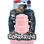 """Pink - Multipet Gorrrrilla Tough Rubber Treat Toy For Puppies 2.5"""""""