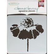 "Cone Flower - Donna Downey Signature Stencils 8.5""X8.5"""