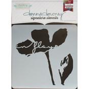 """En Fleur - Donna Downey Signature Stencils 8.5""""X8.5"""""""