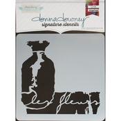 """Les Fleurs - Donna Downey Signature Stencils 8.5""""X8.5"""""""
