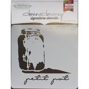 "Petit Pot - Donna Downey Signature Stencils 8.5""X8.5"""