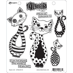 "Puddy Cat - Dyan Reaveley's Dylusions Cling Stamp Collections 8.5""X7"""