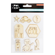 Cool Kid Wood Veneer Shapes - Crate Paper