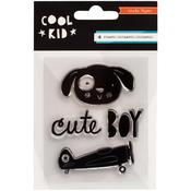 Mini Acrylic Stamps - Cool Kid - Crate Paper