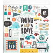 Cool Kid Chipboard Stickers - Crate Paper