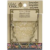 Flat Oval - Thaneeya(R) LLC Metal Link Bracelet 1/Pkg