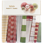 Holiday Party Fans 8/Pkg