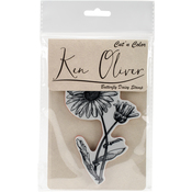 Butterfly Daisy - Ken Oliver Cut 'n Color Cling Stamp
