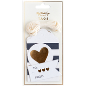 Black & White Tags 12/Pkg