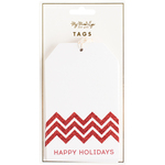 Happy Holidays - Holiday Tags 10/Pkg