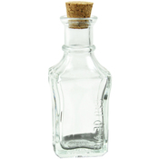 "4"" - Mini Glass Bottles W/Cork 50ml 10/Pkg"
