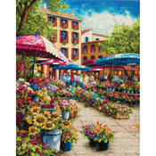 """12""""X15"""" 18 Count - Gold Collection Provence Market Counted Cross Stitch Kit"""