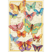 """10""""X14"""" 14 Count - Gold Collection Butterfly Beauty Counted Cross Stitch Kit"""