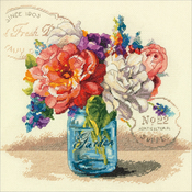 """12""""X12"""" 14 Count - Garden Bouquet Counted Cross Stitch Kit"""