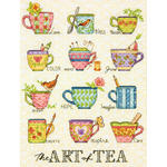 """9""""X12"""" 14 Count - The Art Of Tea Counted Cross Stitch Kit"""