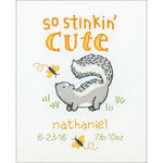 "8""X10"" 14 Count - Stinkin' Cute Birth Record Counted Cross Stitch Kit"
