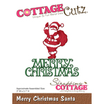 "Merry Christmas Santa, 3""X3.1"" - CottageCutz Die"