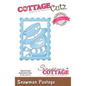 """Snowman Postage, 2""""X2.8"""" - CottageCutz Elites Die"""