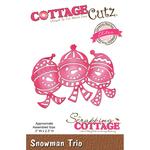 """Snowman Trio, 3""""X2.3"""" - CottageCutz Elites Die"""