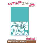 "Happy Holiday Notecard, 3.5""X5.5"" Folded - CottageCutz Elites Die"