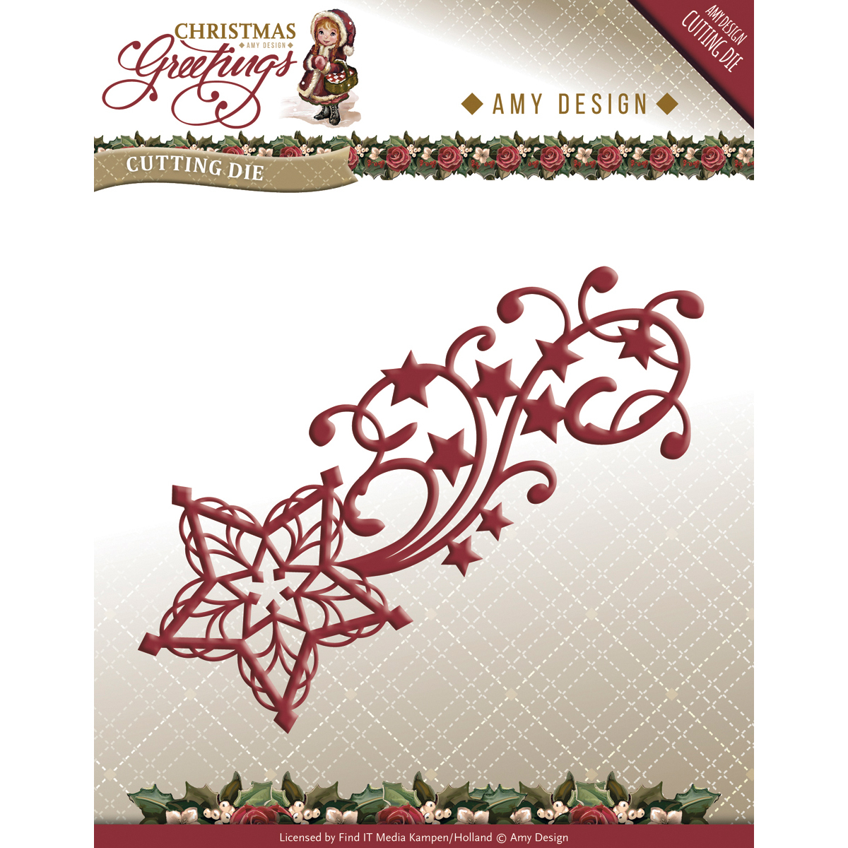 Shooting Star - Find It Trading Amy Design Christmas Greetings Die