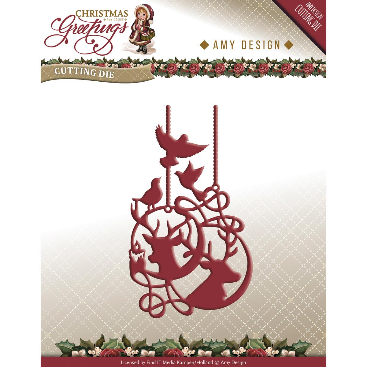 Reindeeer Ornament - Find It Trading Amy Design Christmas Greetings Die