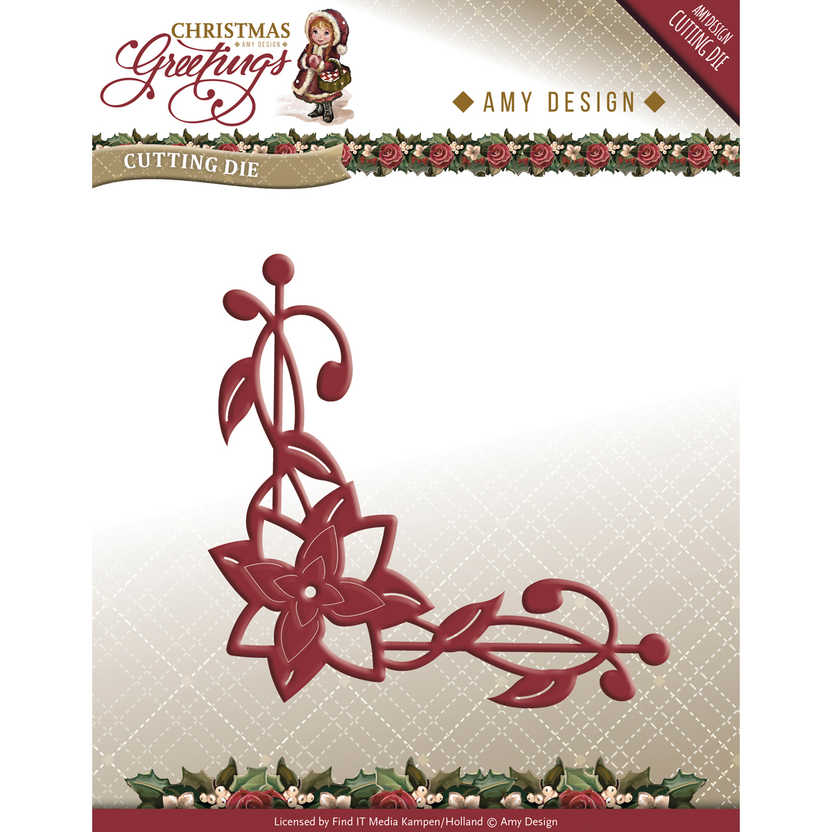 Poinsettia Corner - Find It Trading Amy Design Christmas Greetings Die