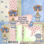 "Blueberry Patch - My Besties Single-Sided Paper 6""X6"" 8/Pkg"