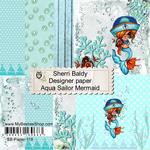 "Sailor Mermaid - Aqua - My Besties Single-Sided Paper 6""X6"" 8/Pkg"