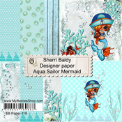 "Sailor Mermaid - Aqua - My Besties Single-Sided Paper 6""X6"" 8/Pkg"