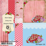 "Cherry Pie - My Besties Single-Sided Paper 6""X6"" 8/Pkg"