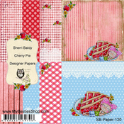 "Cherry Pie - My Besties Single-Sided Paper 6""X6"" 8/Pkg"