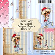 "Sailor Girl - My Besties Single-Sided Paper 6""X6"" 8/Pkg"
