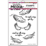 "Scribbly Wings - Dina Wakley Media Cling Stamps 6""X9"""
