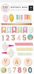Birthday Bash Epoxy Stickers - Pink Paislee