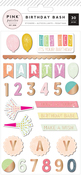 Birthday Bash Epoxy Stickers - Pink Paislee