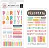 Birthday Bash Rub-ons - Pink Paislee