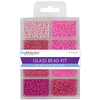 Blush - Glass Bead Kit 45g MULTICRAFT IMPORTS-Glass Bead Kit. This kit contains a great selection of beads that will work well with any jewelry making project. The beads are in various shapes, sizes, and colors. This pack age contains 1.6 oz of beads. Available in a variety of designs, each sold separately. Imported.