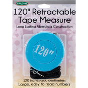 Blue - Retractable Tape Measure 120""
