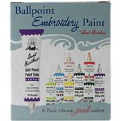 Jewel Colors - Aunt Martha's Ballpoint Paint Tubes 1oz 8/Pkg