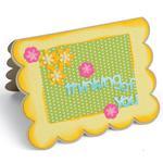 Scallop Flowers/Sentiments Drop-Ins Card - Sizzix Framelits Dies By Stephanie Barnard 22/Pkg