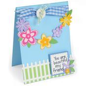 Flowers & Fence - Sizzix Framelits Dies 15/Pkg W/Stamps By Stephanie Barnard