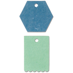 Hexagon & Scallop Tags - Sizzix Originals Dies 2/Pkg By Echo Park