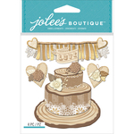 Shimmering Wedding Cake - Jolee's Boutique Dimensional Stickers