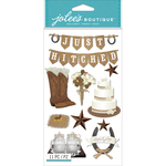 Western Wedding - Jolee's Boutique Dimensional Stickers