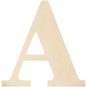 A - MDF Classic Font Wood Letters & Numbers 9.5""