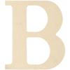 "B - MDF Classic Font Wood Letters & Numbers 9.5"""