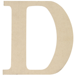 """D - MDF Classic Font Wood Letters & Numbers 9.5"""""""