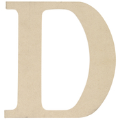 D - MDF Classic Font Wood Letters & Numbers 9.5""