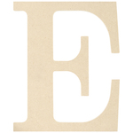 """E - MDF Classic Font Wood Letters & Numbers 9.5"""""""